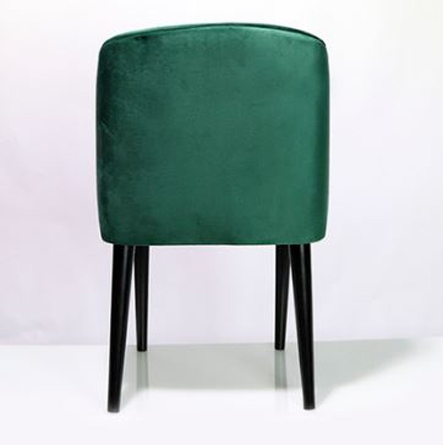 Cadeira Curva Veludo Verde 80x49x57cm  - Arrivo Mobile