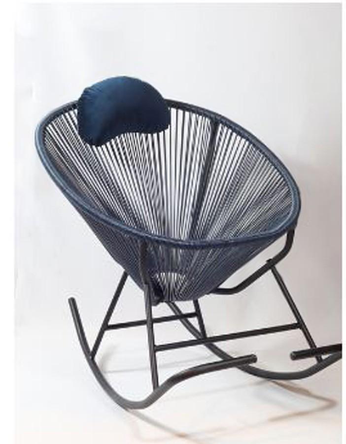 Cadeira De Balanço Acapulco Azul Marinho  - Arrivo Mobile