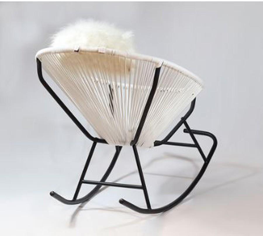 Cadeira De Balanço Acapulco Branca  - Arrivo Mobile
