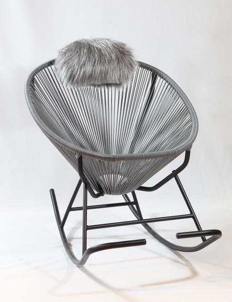 Cadeira De Balanço Acapulco Cinza 80x100x70cm  - Arrivo Mobile