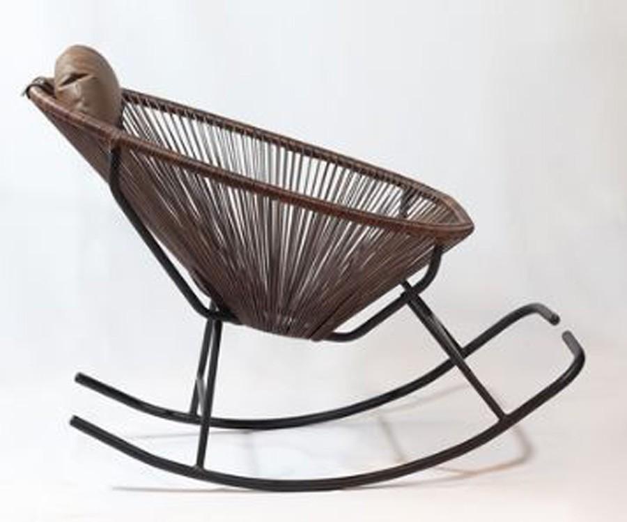 Cadeira De Balanço Acapulco Marrom  - Arrivo Mobile