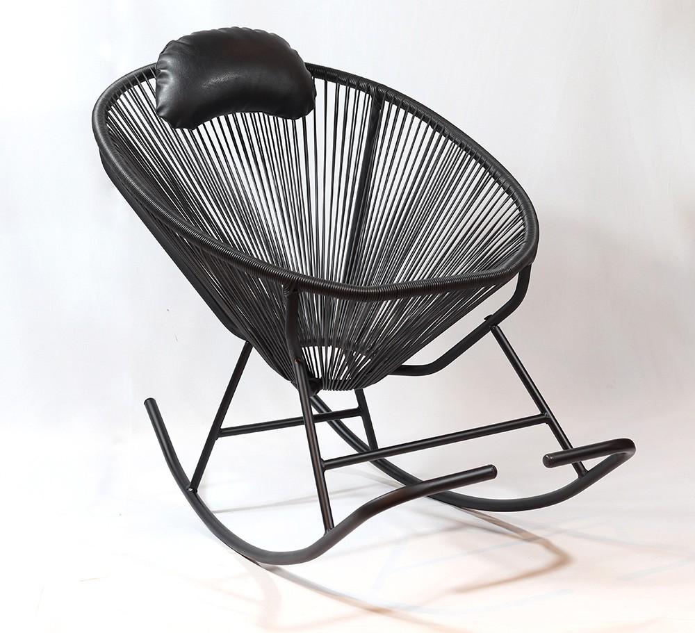 Cadeira De Balanço Acapulco Preta 80x100x70cm  - Arrivo Mobile