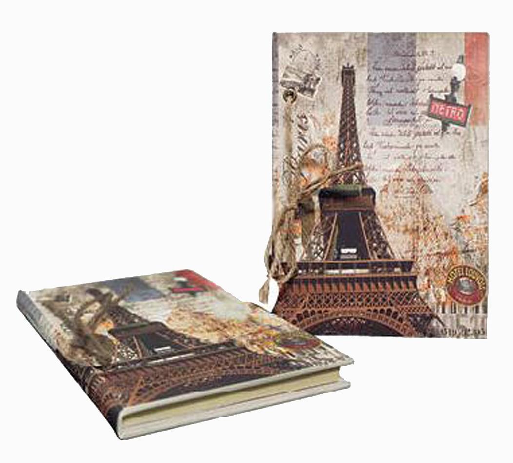 Caderno Anotação Eiffel Metro Oldway 21x14x3cm  - Arrivo Mobile