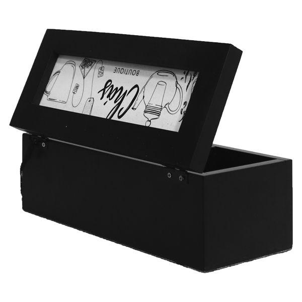 Caixa De Chás Boutique Preta  - Arrivo Mobile