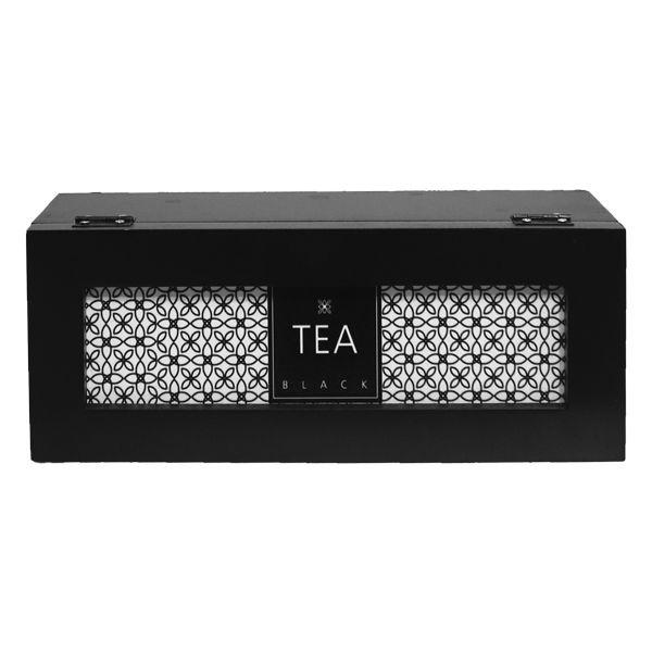 Caixa De Chás Tea Black 9x25x9,5cm  - Arrivo Mobile