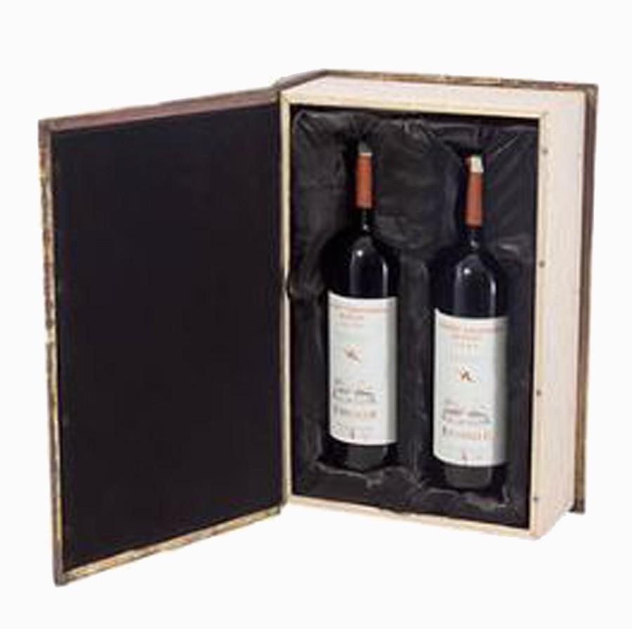 Caixa De Vinho Para 2 Garrafas Oldway 42x28x12cm  - Arrivo Mobile