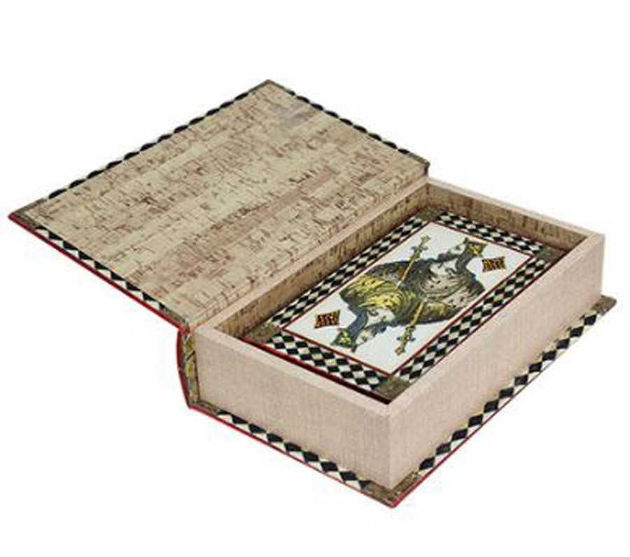 Caixa Livro Decorativo Book Box Rei Do Baralho 27x18x7cm  - Arrivo Mobile