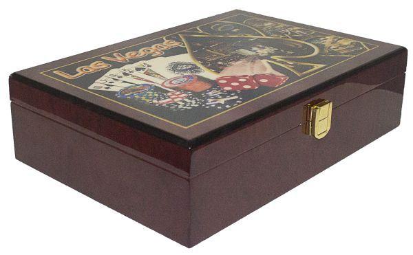 Caixa Madeira Laka Poker Las Vegas  - Arrivo Mobile