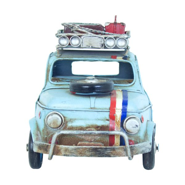Carro Azul Em Metal Com Bagagem Oldway  - Arrivo Mobile