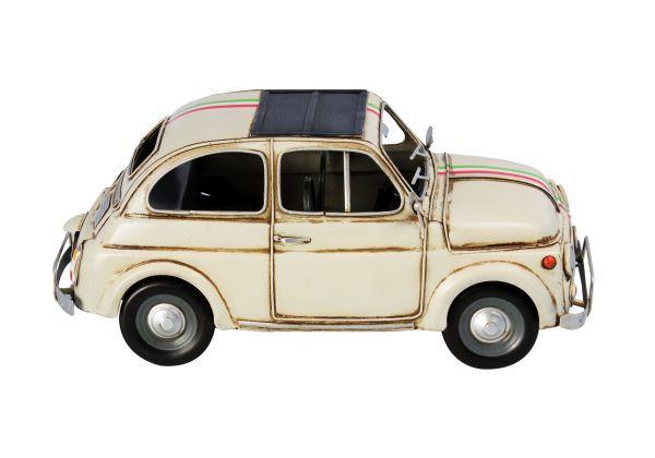 Carro Fiat 500 Amarelo Em Metal Oldway  - Arrivo Mobile