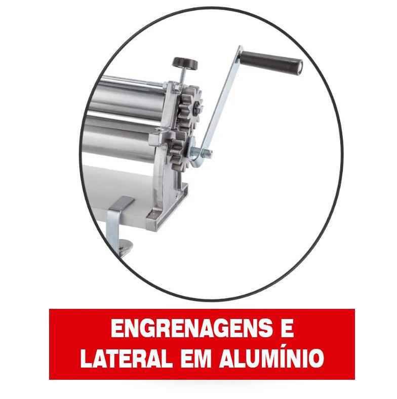 Cilindro Massa Mega Doro 45cm Malta Lateral Alumínio Engrena  - Arrivo Mobile