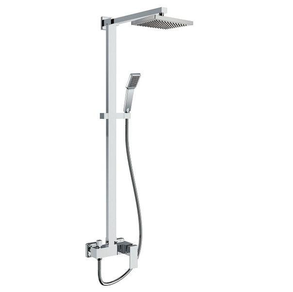 Coluna De Banho Moderna Cromada Vercci  - Arrivo Mobile