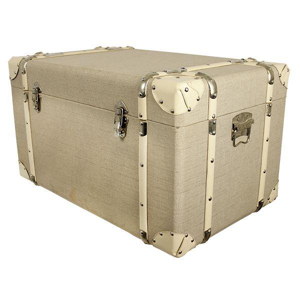 Conjunto 3 Baús Wood/ Linen Branco  - Arrivo Mobile