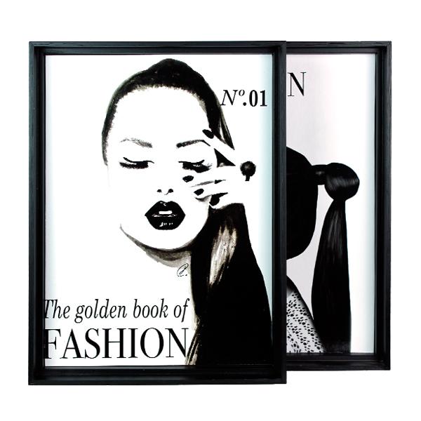 Conjunto de Quadros The Golden Fashion  39x29x4,5cm   - Arrivo Mobile