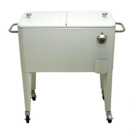 Cooler Carrinho para Bebidas em Metal Retro Branco Fullway  - Arrivo Mobile