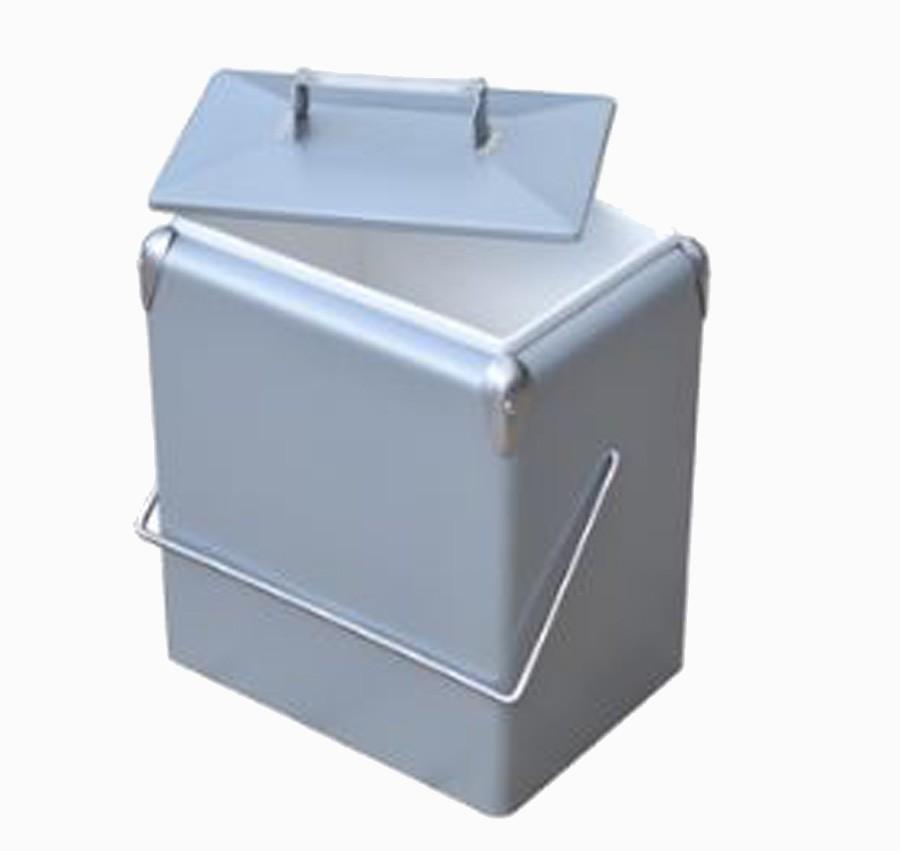 Cooler Ferro Liso 17l Grey 43x32x23,5cm  - Arrivo Mobile