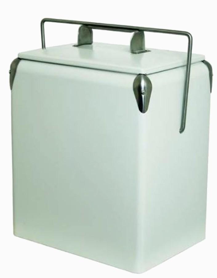 Cooler Ferro Liso 17l White 43x32x23,5cm  - Arrivo Mobile