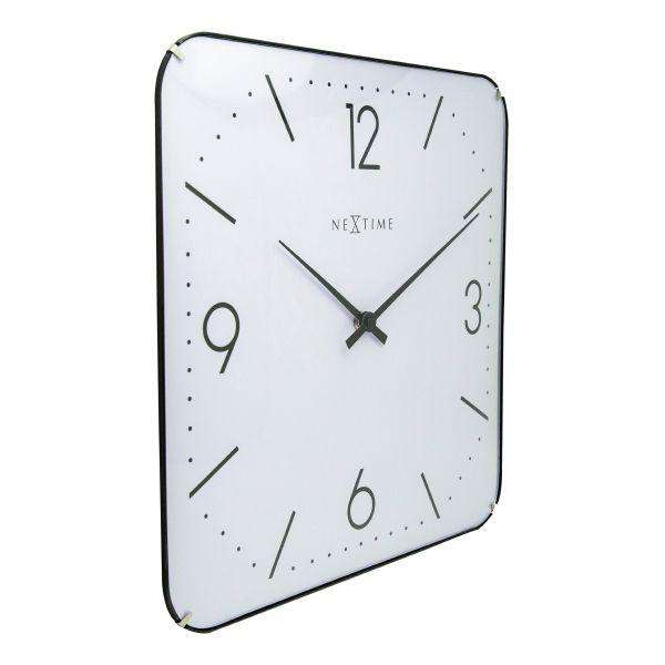 e0b8ef1f3c7 ... Relógio Parede Square Dome White Nextime - Arrivo Mobile ...