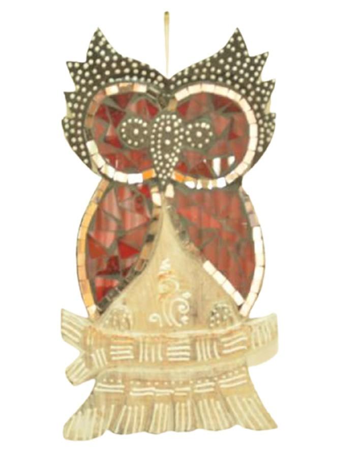 Estatua Imagem de Coruja De Parede Mod B Mosaico Mad Bali Imp  - Arrivo Mobile