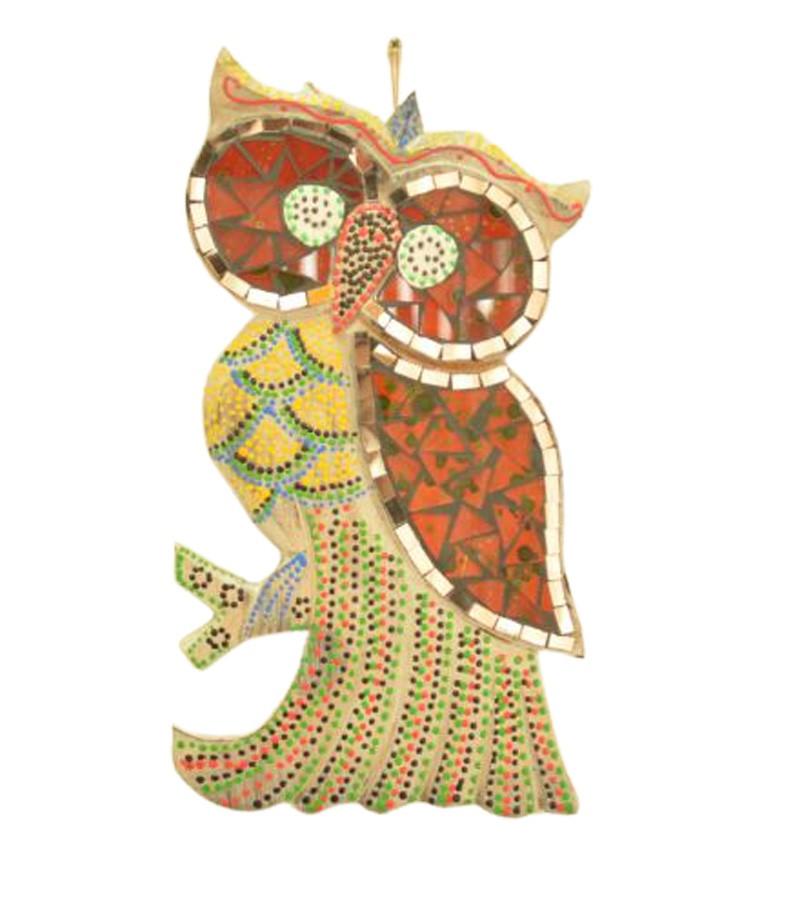 Estatua Imagem de Coruja De Parede Mod C Mosaico Mad Bali Imp  - Arrivo Mobile