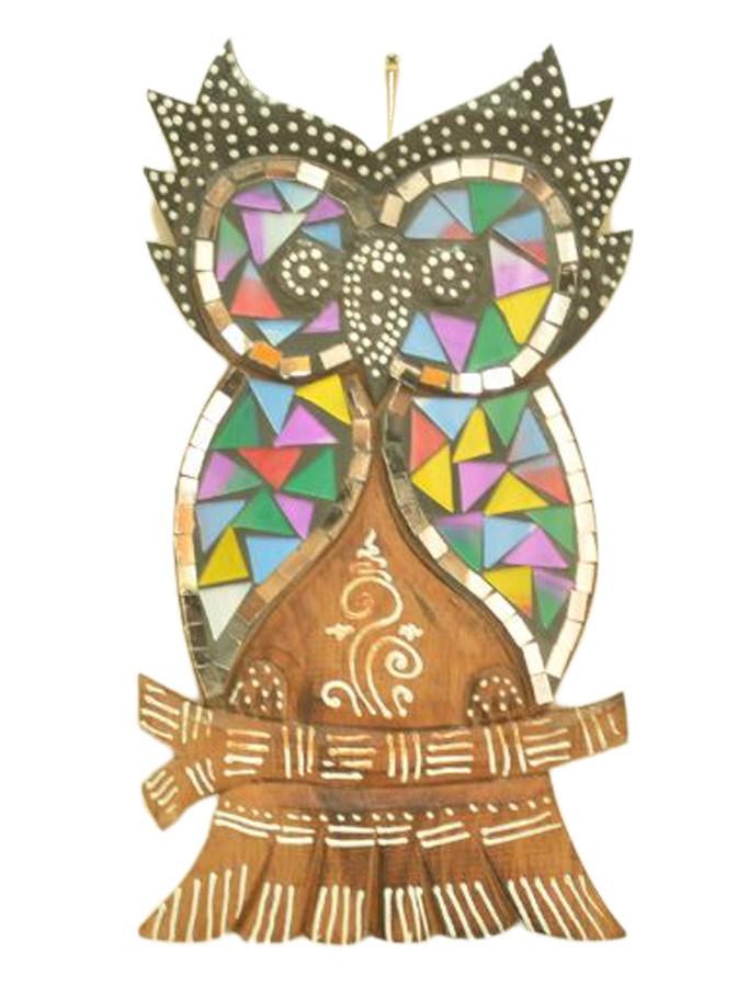 Estatua Imagem de Coruja De Parede Mod D Mosaico Mad Bali Imp  - Arrivo Mobile