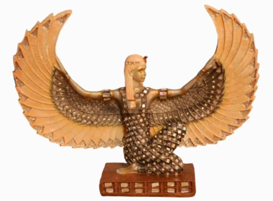 Estatua Imagem de Deusa Isis Asa Aberta Com Espelho  - Arrivo Mobile