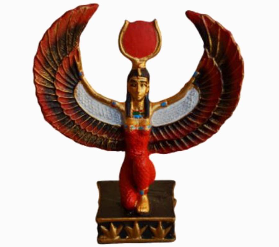 Estatua Imagem de Deusa Isis Colorida P  - Arrivo Mobile