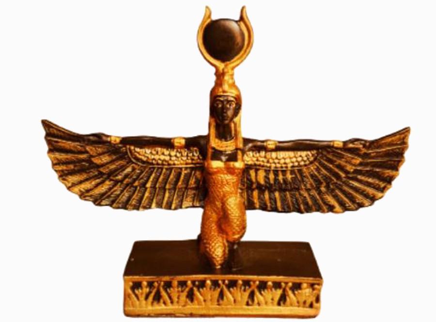 Estatua Imagem de Deusa Isis Dourada M  - Arrivo Mobile
