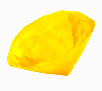 Diamante de Cristal Amarelo 30mm imp  - Arrivo Mobile