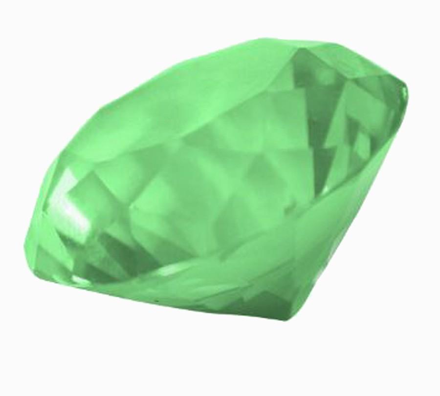 Diamante De Cristal Verde 30mm Imp  - Arrivo Mobile