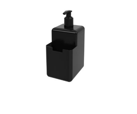 Dispenser Single Preto 500ml 8x10,5x18,2cm  - Arrivo Mobile