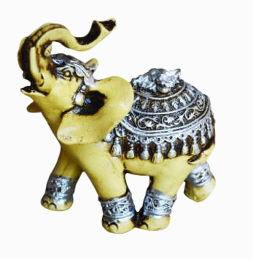 Estatua Imagem de Elefante Betumado Prata  - Arrivo Mobile