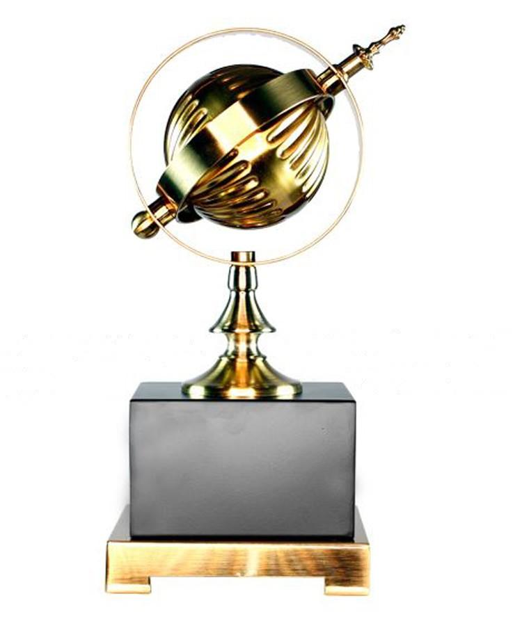 Estatua Escultura Astrolábio Metal Bronze  - Arrivo Mobile