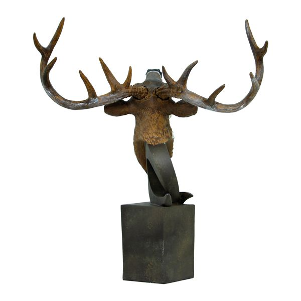 Escultura Busto De Alce Natural Fullway  - Arrivo Mobile