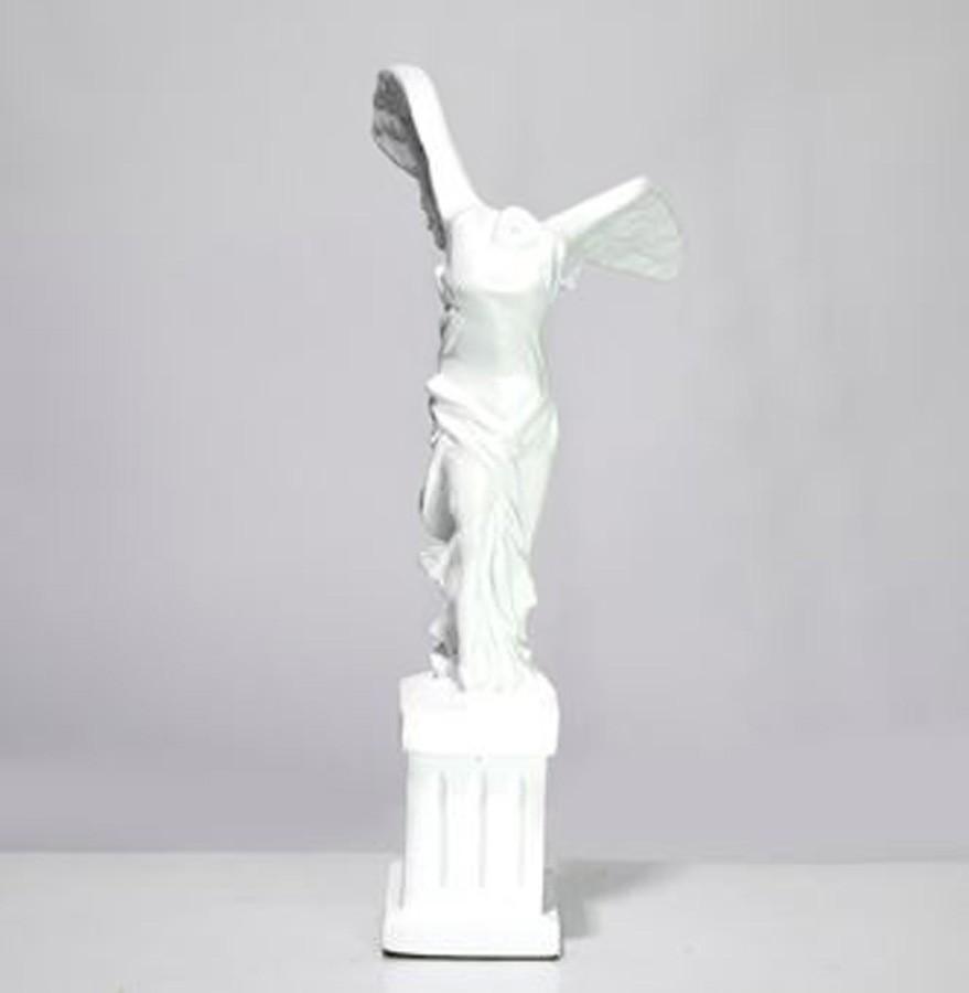 Escultura Corpo Asas Resina Branco  - Arrivo Mobile