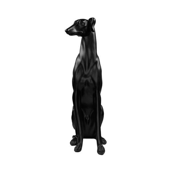 Escultura em Resina Cachorro Galgo Preto 53CM  -  Arrivo Mobile