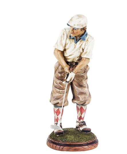 Escultura Golfista Camisa Branca Oldway  - Arrivo Mobile