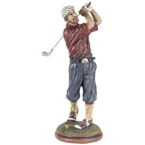 Escultura Golfista Camisa Vermelha Oldway  - Arrivo Mobile