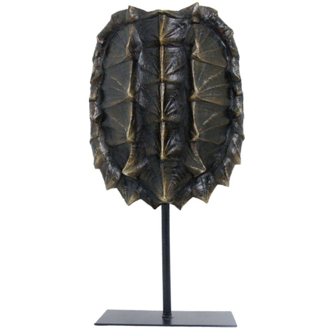 Escultura Resina Tartaruga Natural 57x28x12cm  - Arrivo Mobile