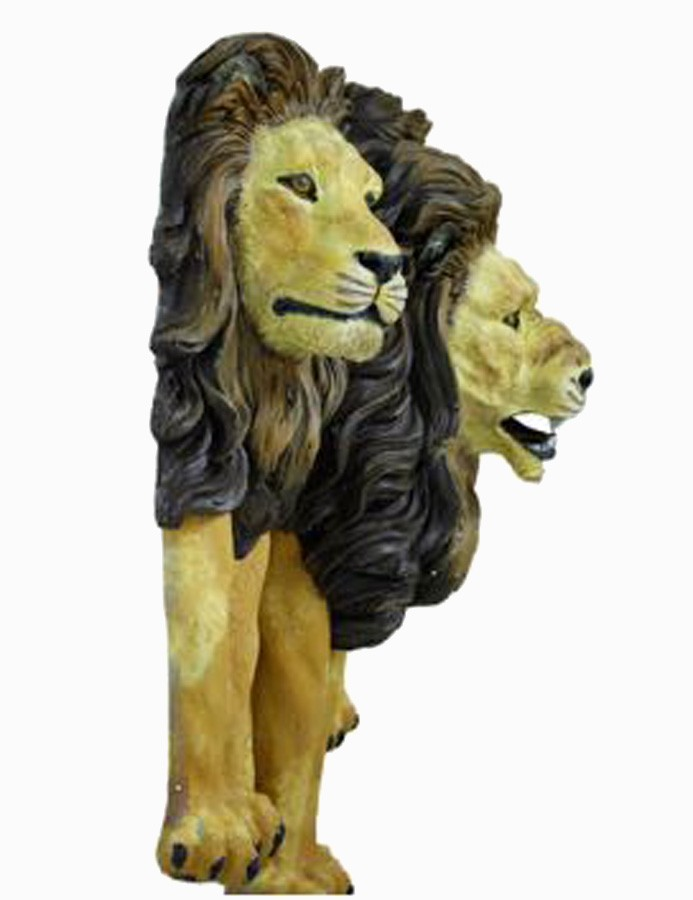 Escultura Trio Leões Parede natural  - Arrivo Mobile