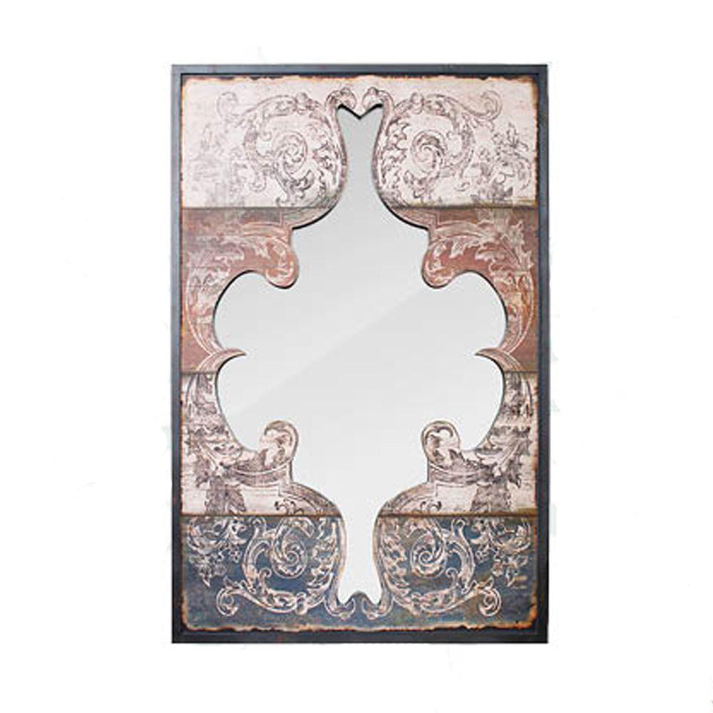 Espelho Arabescos Pintados Recortados Oldway 116x75x5cm  - Arrivo Mobile