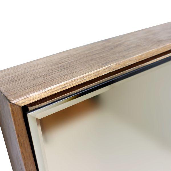 Espelho Box Retangulo Nogueira E Bronze Fullway 114x21x5cm  - Arrivo Mobile