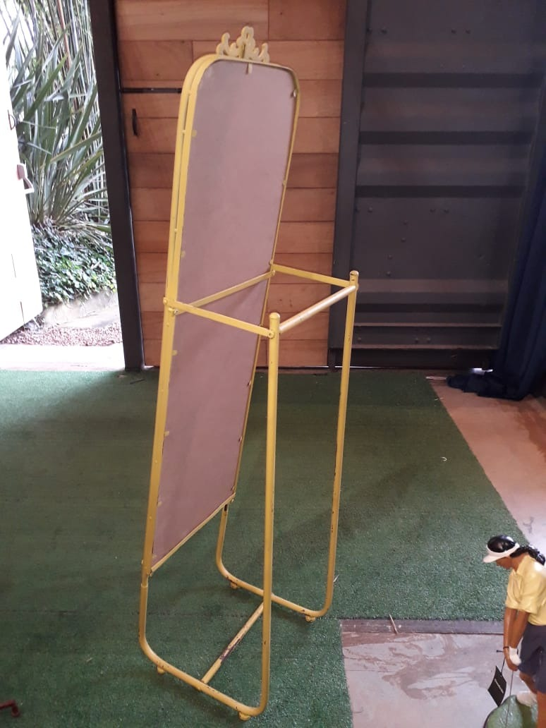 Espelho Chão Suspenso Moldura Amarelo Oldway 163x43x43cm  - Arrivo Mobile