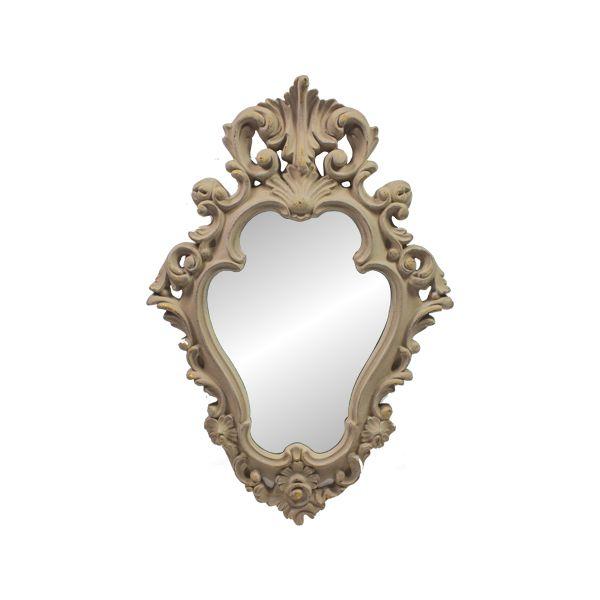Espelho Com  Moldura  Ant Grey Goldway  88x59x7cm  - Arrivo Mobile