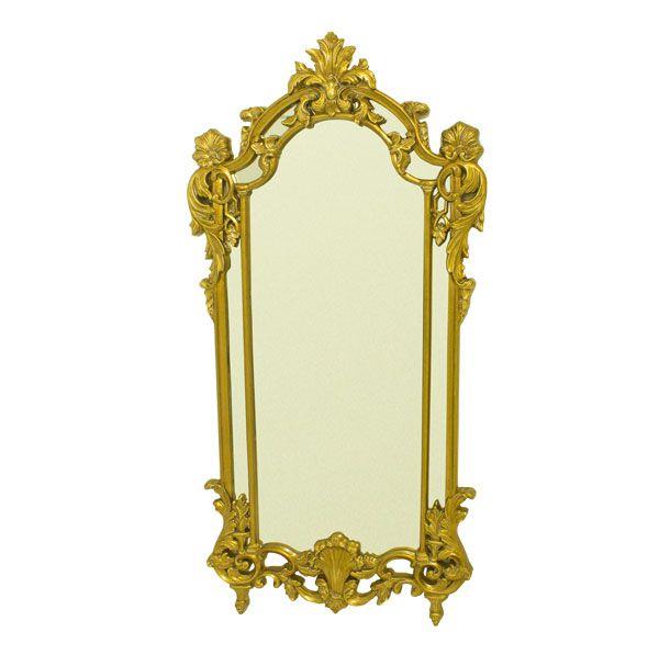 Espelho Com  Moldura  Gold Goldway 178x91x5,5cm  - Arrivo Mobile