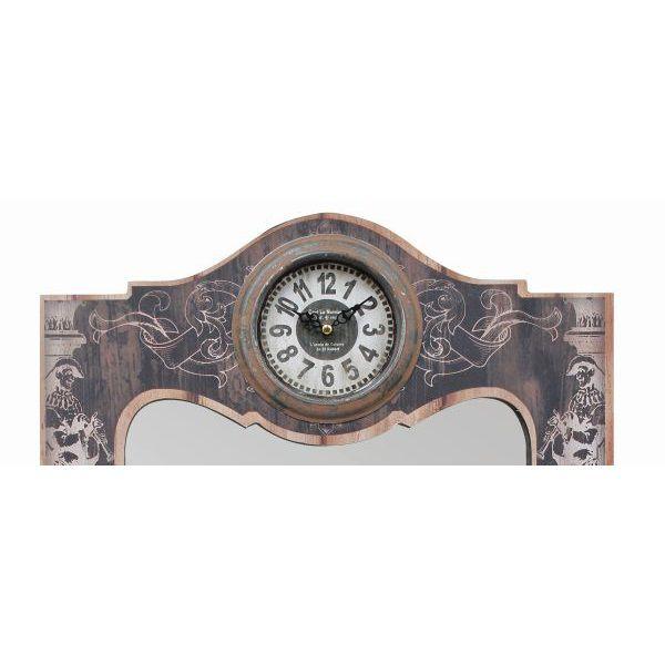 Espelho Com Quatro Gancheiras Com Relógio  - Arrivo Mobile