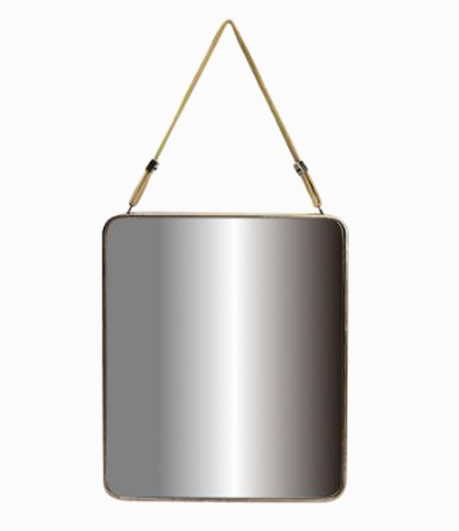 Espelho Corda Metal Dourado 100x50x4cm  - Arrivo Mobile