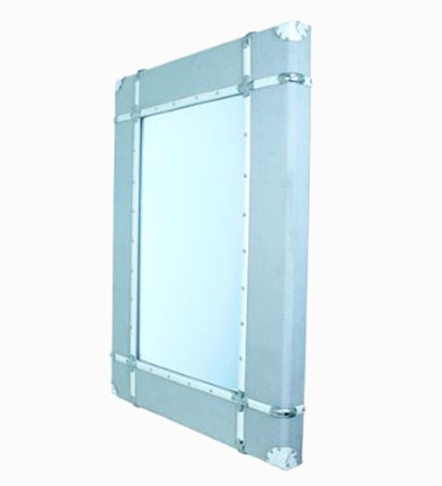 Espelho Emoldurado Wood/Line Off White Oldway 120x85x8cm  - Arrivo Mobile