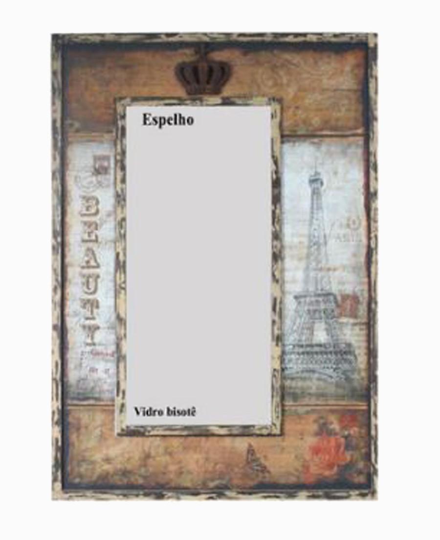 Espelho Paris Eifel Beauty Crown Oldway 93x65x5cm  - Arrivo Mobile