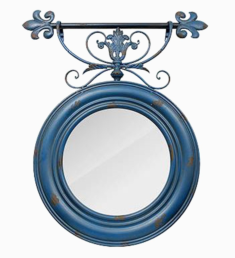 Espelho Redon Azul Velho  - Arrivo Mobile